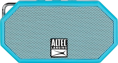 Altec Lansing Mini H20 Speaker Rugged Bluetooth Speaker, Blue