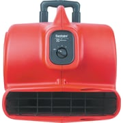 Commercial Three-Speed Air Mover With Built-On Dolly, 5.0 Amp, Red, 25-Ft Cord