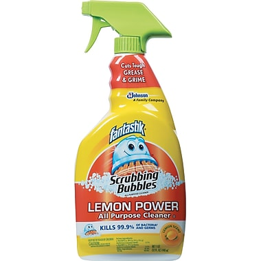 Lemon Power Antibacterial Cleaner, 32 Oz Spray Bottle