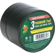 "Pro Electrical Tape, 3/4"" X 50 Ft, 1"" Core, Black, 3/Pk"