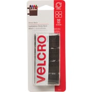 "Velcro Sticky Back, 7/8"" Squares, Black, 32/Pack"
