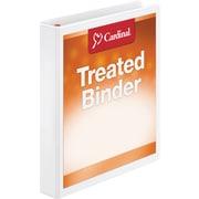 "Cardinal Treated Binder ClearVue Locking Slant-D Ring Binder 1"", White"