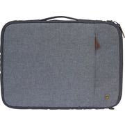 PKG - Sac/étui de transport universel « Stuff » pour tablette et ordinateur portatif de 13 po, gris clair