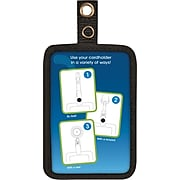 """Cosco® MyID™ Black ID Badge Holder for Key Cards and ID Cards, 4"""" x 2.5"""""""