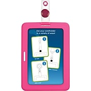 """Cosco® MyID™ Rubberized Pink ID Badge Holder for Key Cards and ID Cards,  4"""" x 2.75"""""""