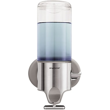 simplehuman® Wall-Mounted Single Pump Dispenser, Silver