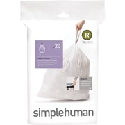 simplehuman® Custom Fit Trash Bags, Code R, 2.6 Gallon,     240 Bags/Box