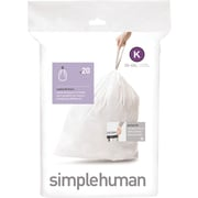 simplehuman® Custom Fit Trash Bags, Code K, 9-12 Gallon, 240 Bags/Box