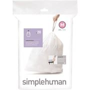 simplehuman Code M Custom Fit Trash Can Liner, (240 Count), 45 Liter / 12 Gallon