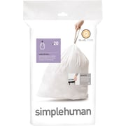 simplehuman® Custom Fit Trash Bags, Code Q, 13-17 Gallon, 240 Bags/Box
