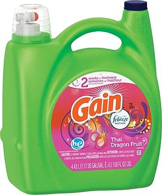 Gain® HE Liquid Laundry Detergent with Febreze, Thai Dragon Fruit, 150 oz.