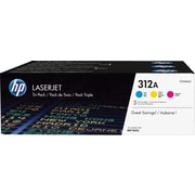 HP 312A (CF440AM) Cyan, Magenta & Yellow Original LaserJet Toner Cartridges, 3/Pack