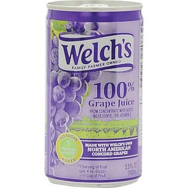 Welch's 100% Grape Juice 5.5 oz. Cans, 48/Case