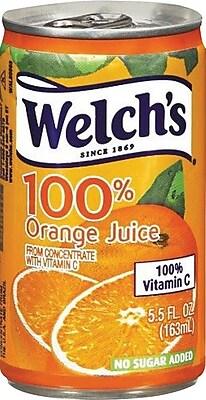 Welch's 100% Orange Juice 5.5 oz. Cans, 48/Case