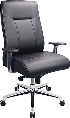 Tempur-Pedic Leather Computer and Desk Office Chair, Fixed Arms, Black (TP1001-BLK)