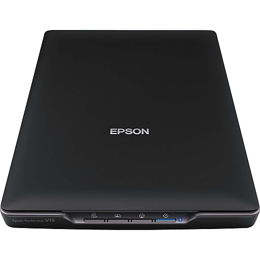 Epson perfection v19 color photo and document scanner staples httpsstaples 3ps7is reheart Images