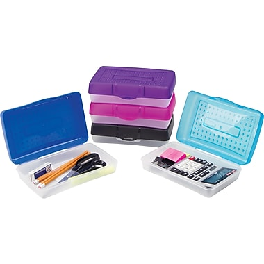 Staples® Plastic Pencil Case, Small