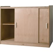 "Whitney Brothers Sliding Doors Storage Cabinet, 32""(H)"