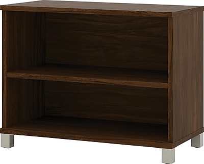 Bestar® Pro-Linea 2-shelf bookcase in Oak Barrel