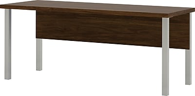 Bestar® Pro-Linea Table with metal legs in Oak Barrel