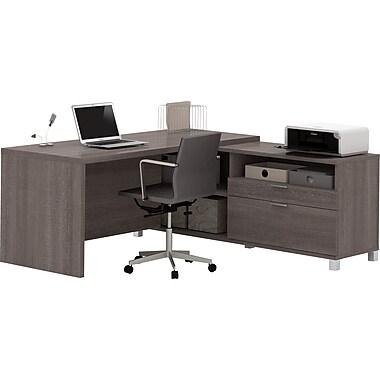 Pro-Linea L-Desk in Bark Grey