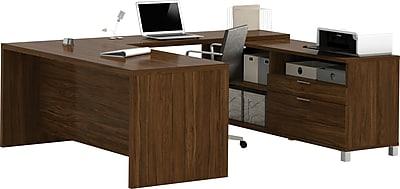 Bestar® Pro-Linea U-Desk in Oak Barrel