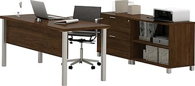 Bestar® Pro-Linea Executive Set in Oak Barrel