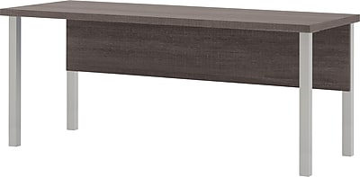 Bestar® Pro-Linea Table with Metal Legs in Bark Grey