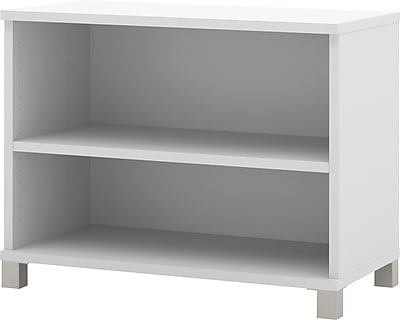 Pro-Linea 2-shelf bookcase in White