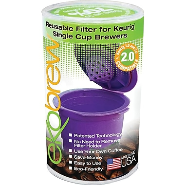 Ekobrew Reusable Filter for Keurig 2.0 and 1.0 Single Cup Brewers