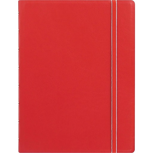 "Filofax® A5 bus Notebook w/ 112 Cream Colored Ruled Repositionable Pages, 8-1/4""x5-13/16"", Red"