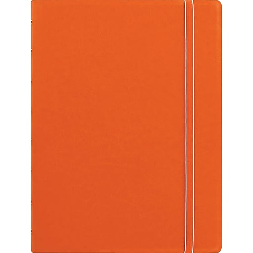 "Filofax® A5  bus Notebook w/ 112 Cream Colored Ruled Repositionable Pages, 8-1/4""x5-13/16"", Orange"