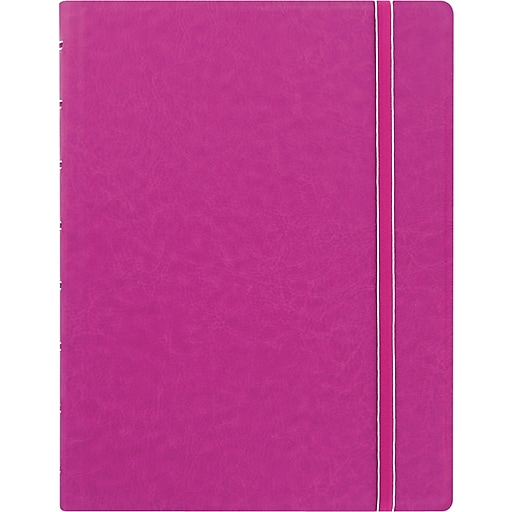 """Filofax® A5 bus  Notebook w/ 112 Cream Colored Ruled Repositionable Pages, 8-1/4""""x5-13/16"""", Fuchsia"""