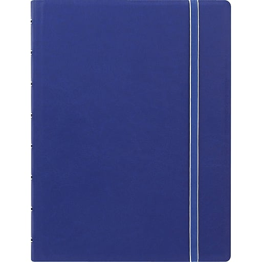 """Filofax® A5 bus Notebook w/ 112 Cream Colored Ruled Repositionable Pages, 8-1/4""""x5-13/16"""", Blue"""