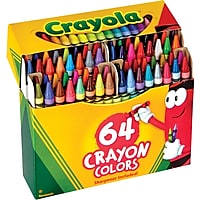 64-Pack Crayola Crayons with Sharpener 52-0064