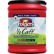 Folgers® Half Caff Coffee, 10.8 oz. Canister