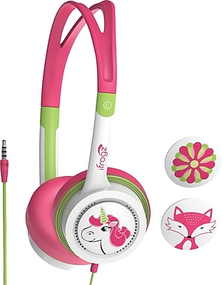iFrogz Kid Safe Headphones, Pink