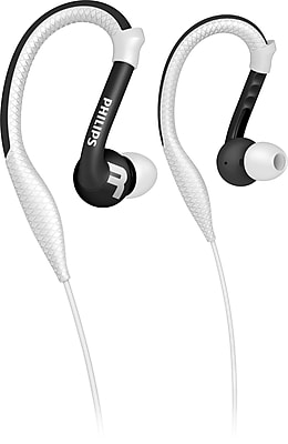 Philips SHQ3200WHT ActionFit Earhook Headphones, White
