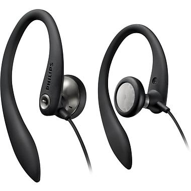 Philips SHS3200BLK Sport Bud Earhook Headphones, Black