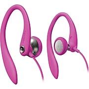 Philips SHS3200PNK Sport Bud Earhook Headphones, Pink