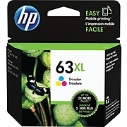 HP 63XL Tri-Color High Yield Ink Cartridge (F6U63AN#140)