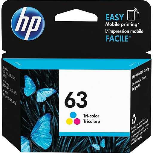 HP 63 Tri-Color Ink Cartridge, F6U61AN#140