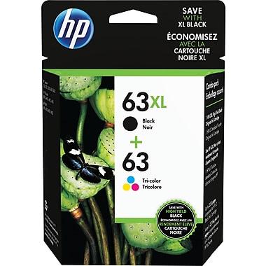HP 63XL Black High-Yield & 63 Tri-Color Ink Cartridges, 2-Pack (L0R48AN)