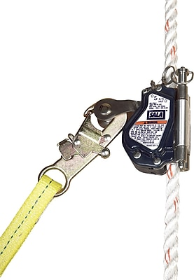 CAPITAL SAFETY GROUP USA Stainless Steel & Aluminum Mobile Rope Grab with Lanyard Universal