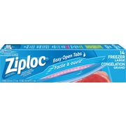 Ziploc Heavy-Duty Double-Zipper Freezer Bags, Large, 14/Pack
