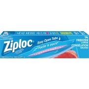 Ziploc - Sachets pour congélation robustes à fermeture à glissières doubles, grands, bte/15