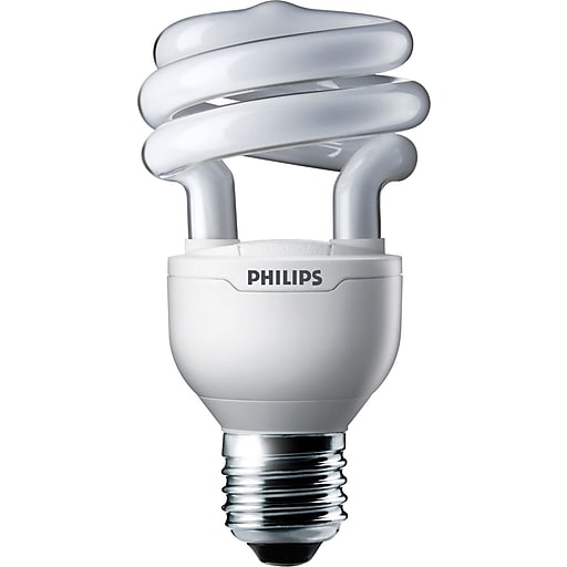 Philips Compact Fluorescent Twister Light Bulb, 13 Watts, Bright White, 6PK