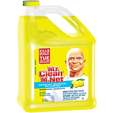 Mr. Clean, Multi-Surfaces Disinfectant, Summer Citrus, 3.78L