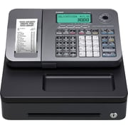 CASIO® PCR-T285L Compact Electronic Cash Register, Silver/Black