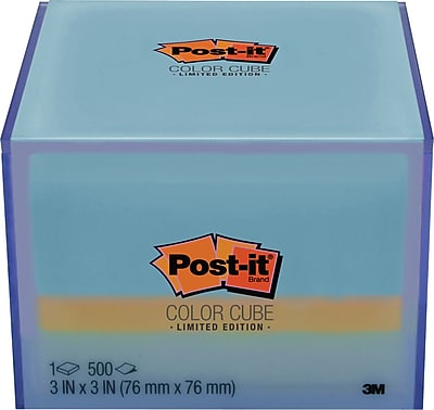 Post-it® Notes Cube in Reusable Container, 3